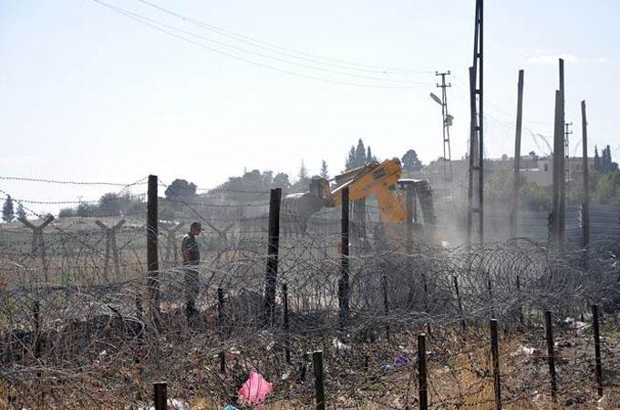 """Tyrkiske myndigheder bygger """"Skammens mur"""""""