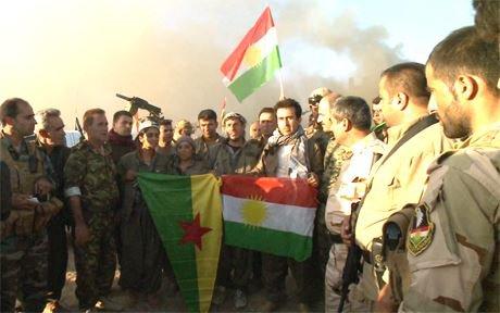 Forenede styrker: Peshmerga og PKK skal sammen forsvare kurderne
