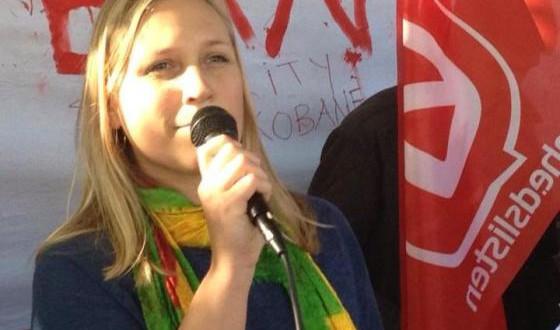 Eva Flyvholm: Vi kæmper sammen imod fascisme og undertrykkelse