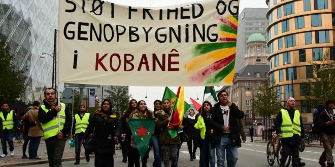 Demonstration for frihed og genopbygning af Kobane