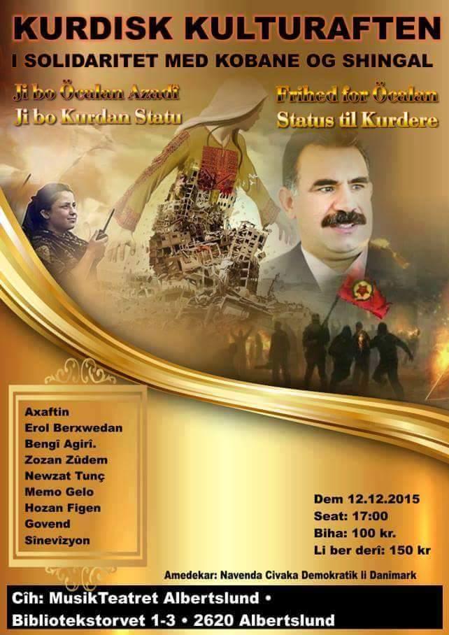 Kurdisk kulturaften i frihedskampens tegn