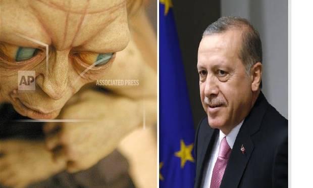 Ligner præsident Erdogan filmfiguren Gollum?