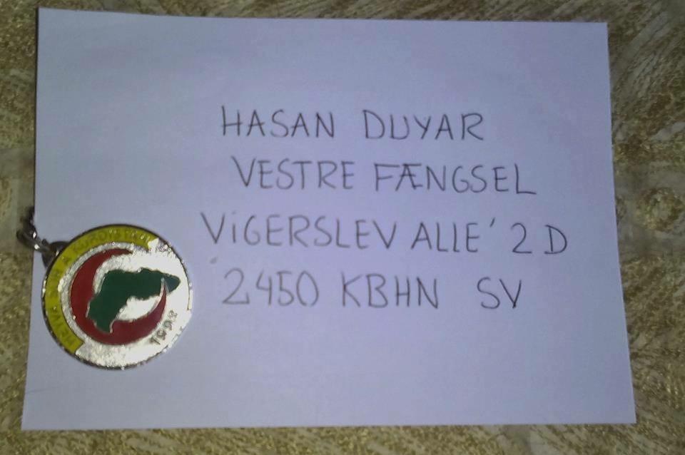 Send et solidarisk brev til den kurdiske aktivist i dansk fængsel