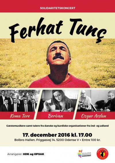 Solidaritetsaften for HDP i Odense, lørdag den 17. december kl.17:00 i Bolbro Hallen