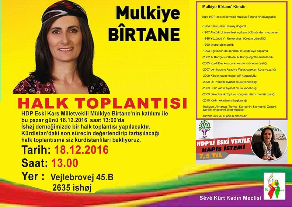 Folkemøde med tidligere PM for HDP Mülkiye Birtane