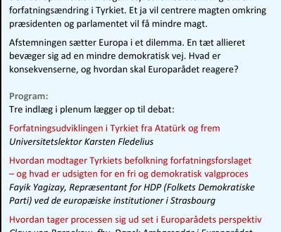 Folkeafstemningen i Tyrkiet – et dilemma for Europa