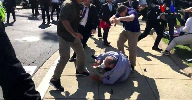 Ni såret efter demonstration mod Erdogan-besøg i USA