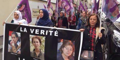 Kurdiske kvinder vil have retfærdighed for Sakine, Fidan og Leyla i Paris