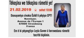Ezidi-organisationer i solidaritet med sultestrejker