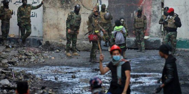Syv demonstranter dræbt i Irak