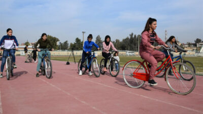 "Ny kampagne i Rojava: ""Jeg vil have en cykel"""