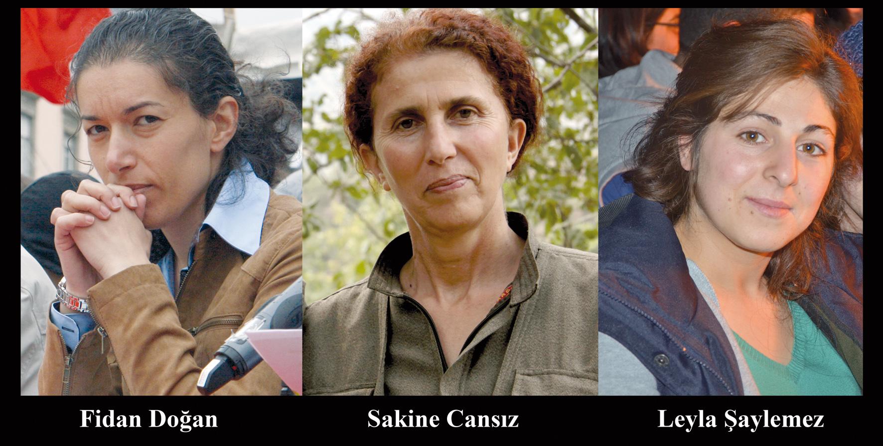 Tre kurdiske kvinder for tre år siden og tre år efter