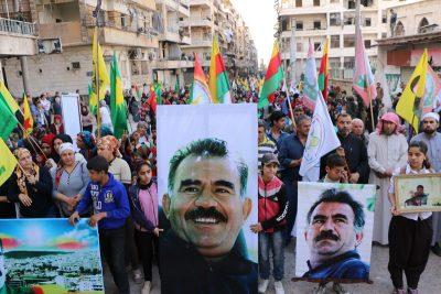 Demonstration i Aleppo for Abdullah Öcalan