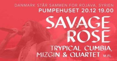 Støttekoncert for Rojava: Savage Rose m.fl