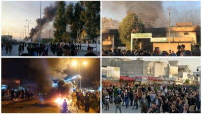 Protesterne spreder sig i det sydlige Kurdistan