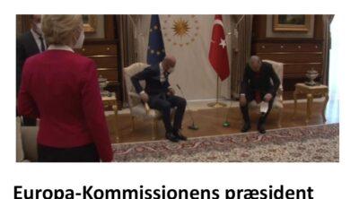 EU-Kommissionens kvindelige chef fik ingen stol på Tyrkiet-mødet